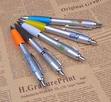 Free sample promotional pen with metal pen clips for free logo