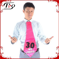 pink 30 year old birthday party tie
