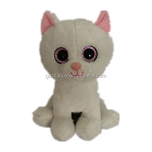 super cute and fashion white cat toy with big eyes stuffed plush toy cat