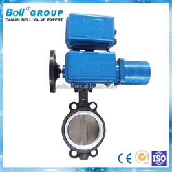 PN16 4-20mA Electric Wafer Type Cast Iron 6 Inch Butterfly Valve