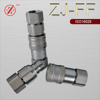 ZJ-FF steel flush face type quick coupling hydraulic oil and gas pipe fitting