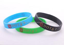 Hot sale Dota2 item rubber silicone wristband bracelets