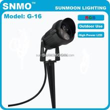 ip65 modern outdoor garden lighting rgb led stake light
