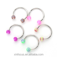 Colorful acrylic indian nose ring jewelry CBR wholesales crazy factory piercing industrial piercing body jewelry