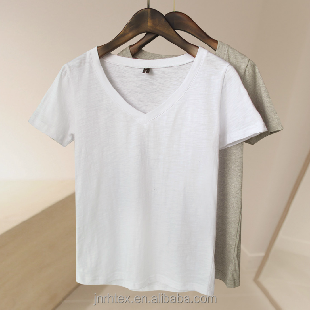 Manufacturer cotton short long sleeve 100 cotton bulk v for High quality plain t shirts wholesale