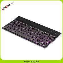 For Samsung Tab/iPad/ windows Ultra Slim 4mmAluminum Wireless Bluetooth led Backlight Keyboards Seven Color Changing