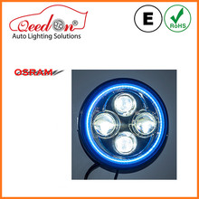 Qeedon new product 7 inch round low and high beam led headlight with DRL for Jeep