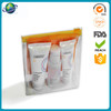 Transparent pvc material waterproof stand up zipper bag
