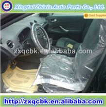ZX factory price with free sample for disposable plastic car seat cover/color printed car seat cover