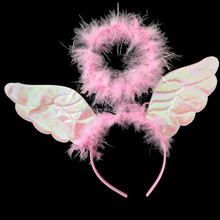 Beauty cute mini feather fairy wing / angel wing / butterfly wing set for cosplay pink QFW-1052