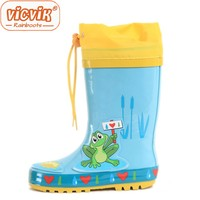 frog printing children cute rubber rain boots