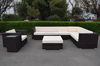 modern pe rattan sofa fancy outdoor wicker sofa daybed set