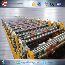 thick/thin sheet two layer roof tile roll forming machine, steel profile roll forming machine, cold cutting steel machine