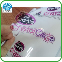 waterproof roll clear label,custom printing adhesive clear label sticker
