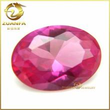 loose Wuzhou gemstone 6*8 oval synthetic rough ruby gemstone