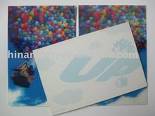 Wholsale factory of 3d lenticular printing postcard