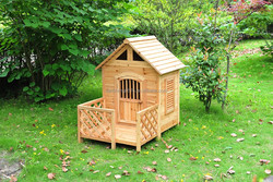 WOODEN DOG HOUSE WITH PORCH ALS-6104