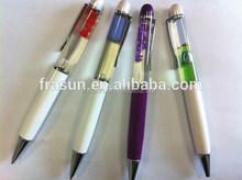 Custom plastic 2D 3D floater liquid ball pen promotional floating pen