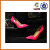 2013 pink pumps fashion beautiful middle heel shoes for women ladies