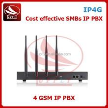 4 Channels VoIP PBX System IP4G Wireless PBX Telephone System