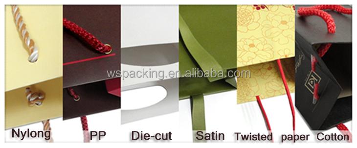Reciclado barato por atacado sacos de papel marrom com alças