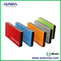 New Products 2016 LED Advertisement Clock Portable USB Power Bank 8000mah with Free Software for Christmas presents