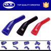 "ID=28-22mm(1 1/8""-7/8"") /Reducing elbow 45 degree silicone hose /black color"