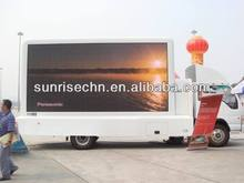 made in shenzhen sunrise mobile advertising truck p6,p8,p10,p12,p16 led sign moves
