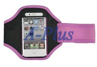 6pcs/lot Pink Waterproof GYM Running Sport Armband Case For iPhone 4 4S