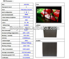 Have stock shenzhen p6 / p7.62 /p8 / p10 JHG SMD indoor / outdoor p10 DIP546 concert stage background led display
