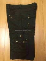 Men army sports overall work cargo short overstock clearance