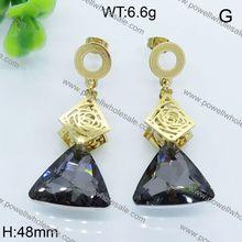 Popular Products In USA Custom Design Jewelry hoop huggie cz paved heart shaped earrings