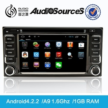 toyota hiace van 15 seater support canbus with SWC rear cemera TPMS Bluetooth and android4.4.4 system