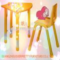 Ajustável baratos de madeira do jardim de infância de mesa e cadeira set, móveis de jardim de infância de produtos
