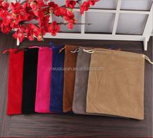 In Stock 9*12cm Black Wholesale Black Drawstring Velvet Jewelry Pouches Gift Bag