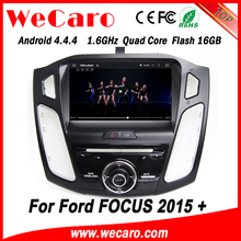 Wecaro WC-FF8088 Android 4.4.4 car dvd player touch screen mp3 radio for ford focus 2015 BT gps 3g TV
