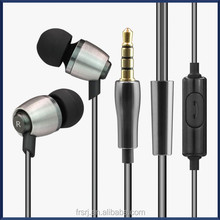 metal earphone for Apple iPhone 5 Earphone with Remote and mic
