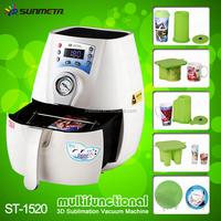 Mini sublimation 3D Vacuum machine magic mug printing machine , plate, phone case printing