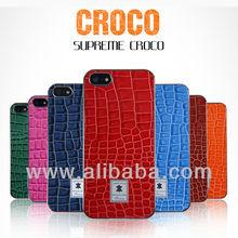 Croco Leather Phone case for iphone 5(S) & samsung galaxy S3 S4 i9300 i9500 Supreme Croco