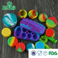 China Factory high quality customized small silicone jar, oil silicone container,butane hash oil silicone container