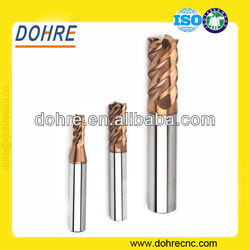 DOHRE 4 Flutes 68HRC high hardness Solid tungsten carbide end mills