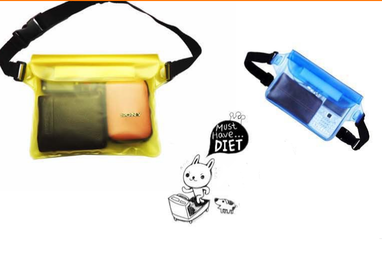 Plastic waterproof running waist bag pvc waterproof waist pack dry bag factory
