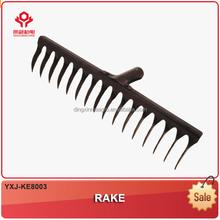 YXJ-KE8003-XVST06 Leaf Tilling tools garden implement iron garden hand rakes