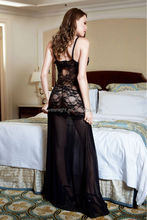Eve's Night Charming Sheer Lace And Embroidered Chiffon Maxi Dress Gown