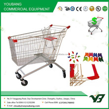 Hot sell good cheap 60 liter zinc with clear powder european style shopping trolley (YB-B01)