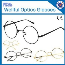 2012 metal optical frame whithe frame and temples eyeware