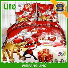 cotton 3d printed Christmas set bed brand/silk duvet set