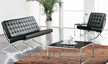 Vendita calda base in acciaio inox divano in pelle per ufficio 3029#