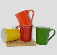 12oz liling yinhe ceramic color glazed mugs,best selling coffee mug