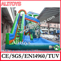 genius forest travel Exciting water play games with slide New Style Large Inflatable Pool Slide